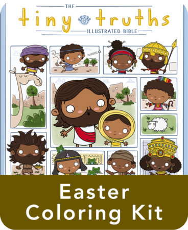 Tiny Truths Illustrated Bible Easter Coloring Kit