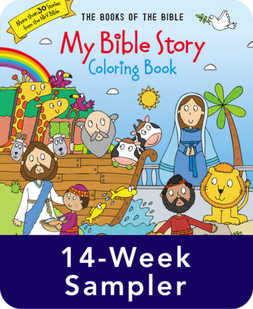 My Bible Story Coloring Book 14-week Sampler, with Easter Story