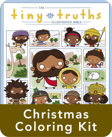Tiny Truths Illustrated Bible Christmas Coloring Kit