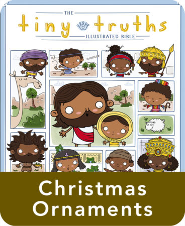 Tiny Truths Illustrated Bible Christmas Ornaments